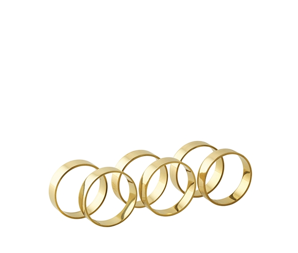 NAPKIN RING 'RING' BRASS