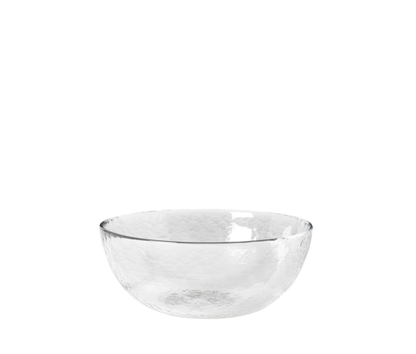 BOWL 'HAMMERED' GLASS