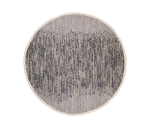 RUG 'BIRGER' LEATHER/COTTON