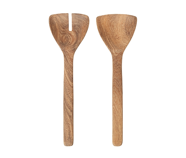 SALAD SERVING SET 'ACACIA WOOD