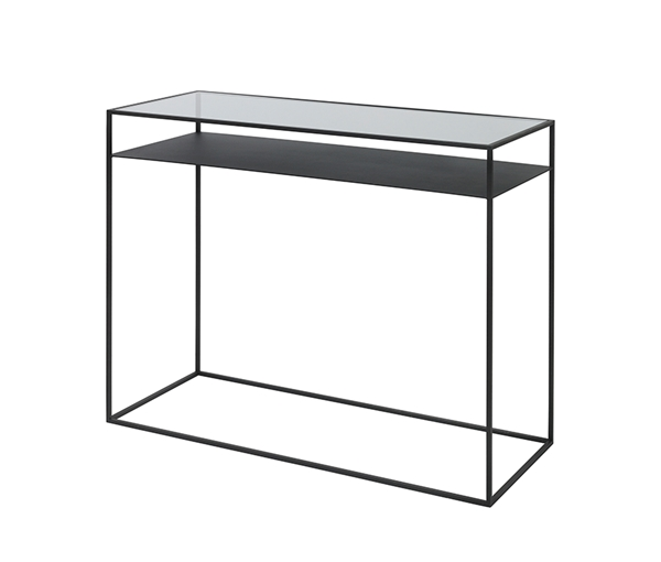 TABLE 'KAMILLE' GLASS/ STEEL