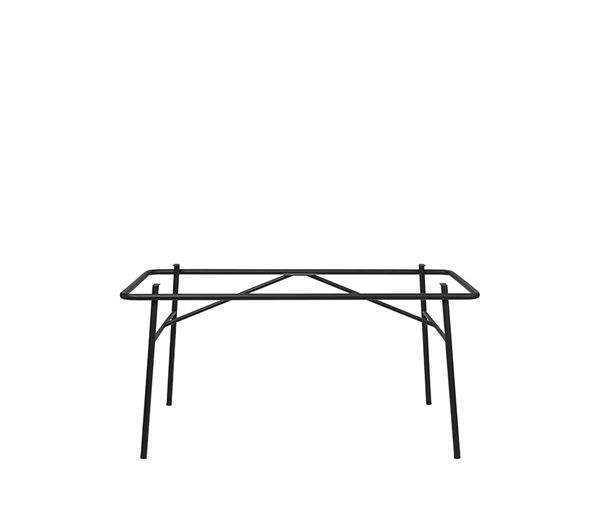 DC TABLE FRAME  'MOON' STEEL