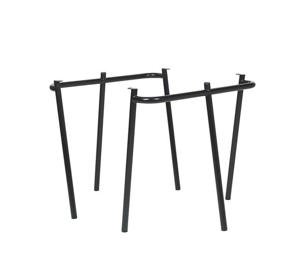 DC TABLE TRESTLES 'MOON' STEEL